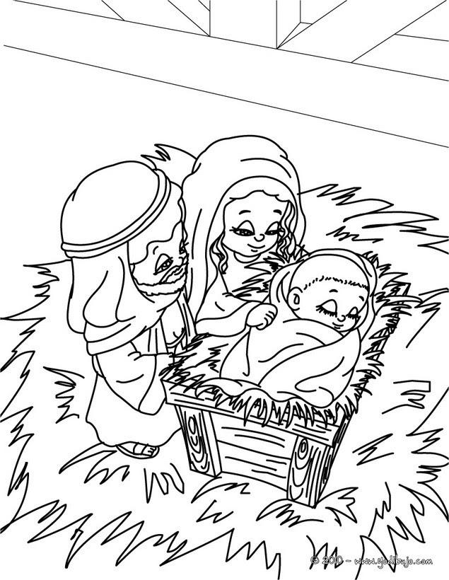 Dibujos Para Colorear Jesus Maria Y Jose Eshellokidscom