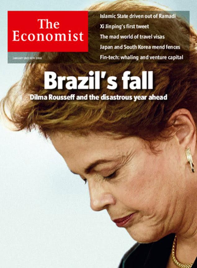 "Capa da revista 'The Economist' diz que Brasil tera 2016 ""desastroso"""