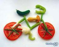 food art - vegetable bicycle
