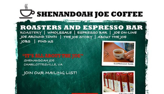 shenandoah joe coffee website 30 Sitios web sobre café para inspirarte