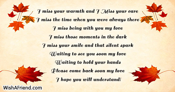 I Miss Your Warmth And I Missing You Message For Boyfriend