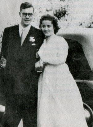 L'instituteur Guy Monnerot et sa femme