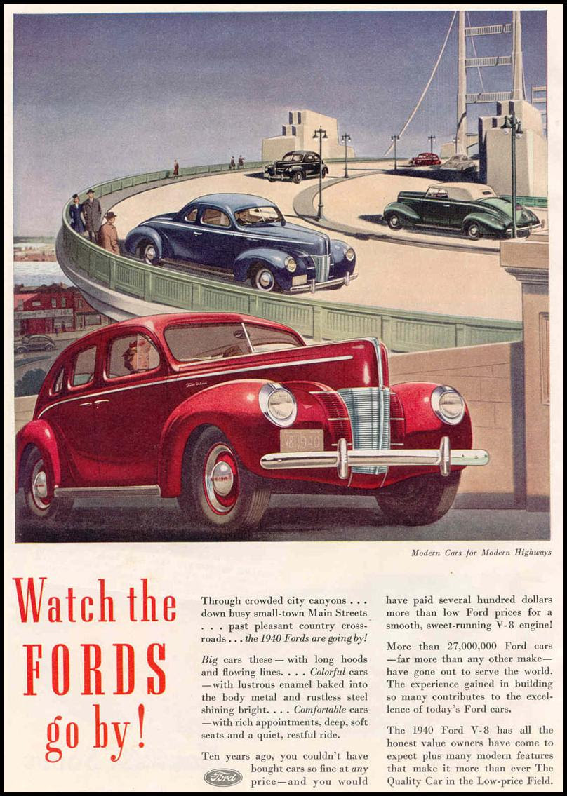 FORD AUTOMOBILES GOOD HOUSEKEEPING 03/01/1940 p. 64