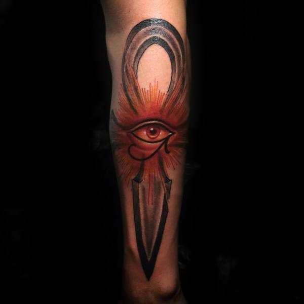 50 Eye Of Horus Tattoo Designs For Men Egyptian Hieroglyph Ink