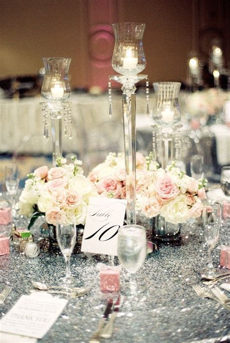 25  best Silver Wedding Centerpieces ideas on Pinterest