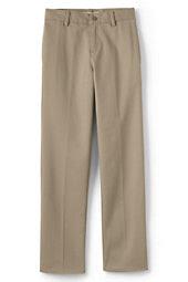 School Uniform Boys Tailored Fit Plain Front Pant-Khaki,10