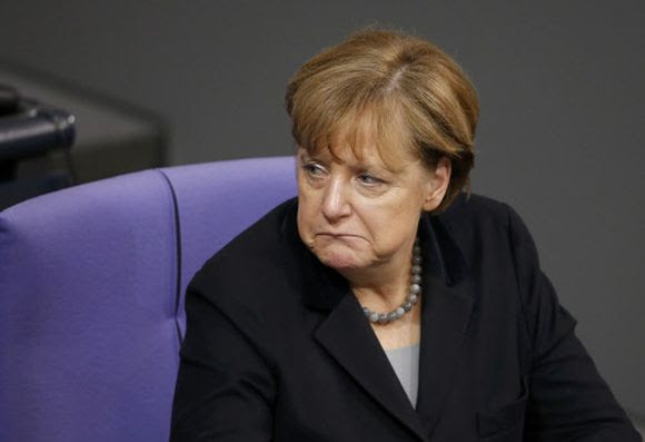 Angeschlagen: Kanzlerin Merkel