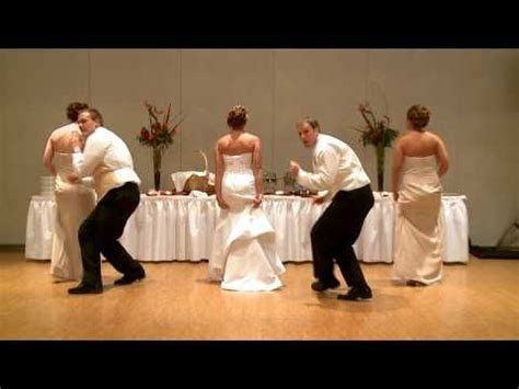A very funny Choreographed Wedding Dance by the Bride