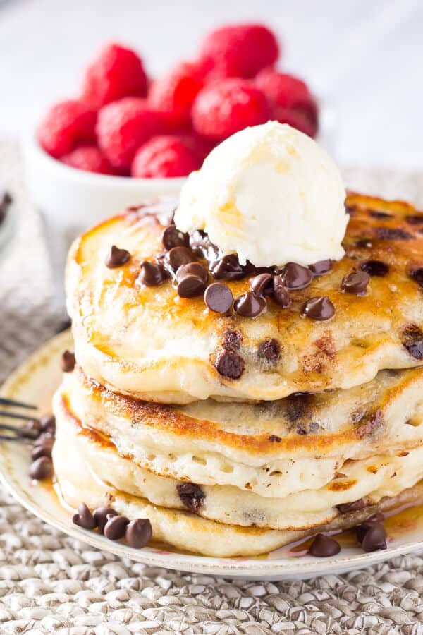 Chocolate Chip Pancakes - Just so Tasty