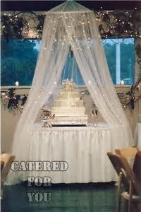 Lighted Tulle Canopy over cake!   Awesome Wedding, Event