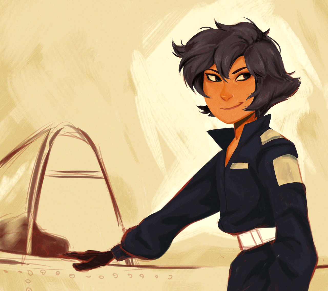 teen heart-throb aviatrix Lapis Lazuli for the Soviet Spies AU much as I love how quickly I can pump out comics in the SU style, painting in my own is good fun