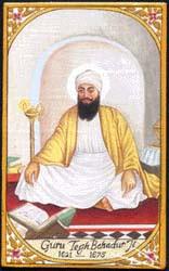 Painting of Guru Teg Bahadhur ji