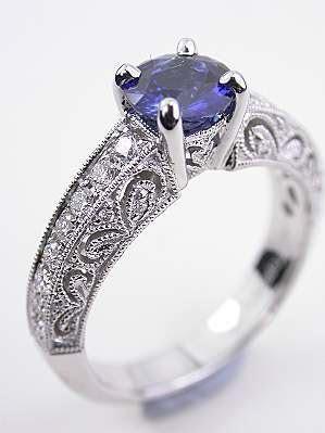 Vintage & Antique Sapphire Engagement Rings   Topazery