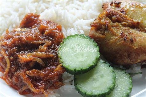 azie kitchen nasi lemak  ayam goreng berempah