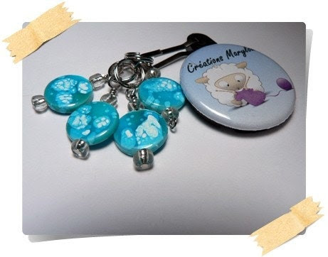 Stitch markers with clip