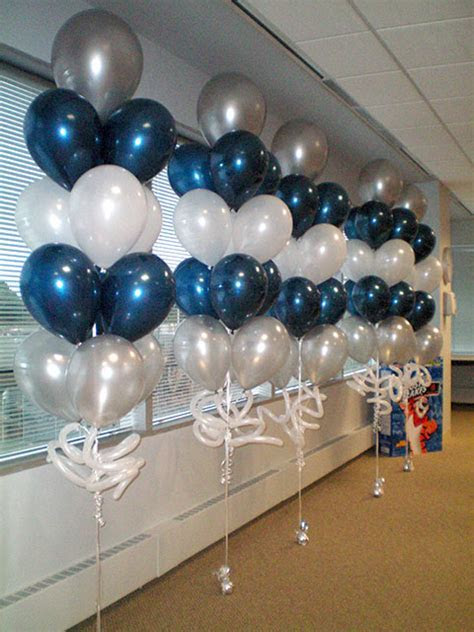 balloon tree blue and silver