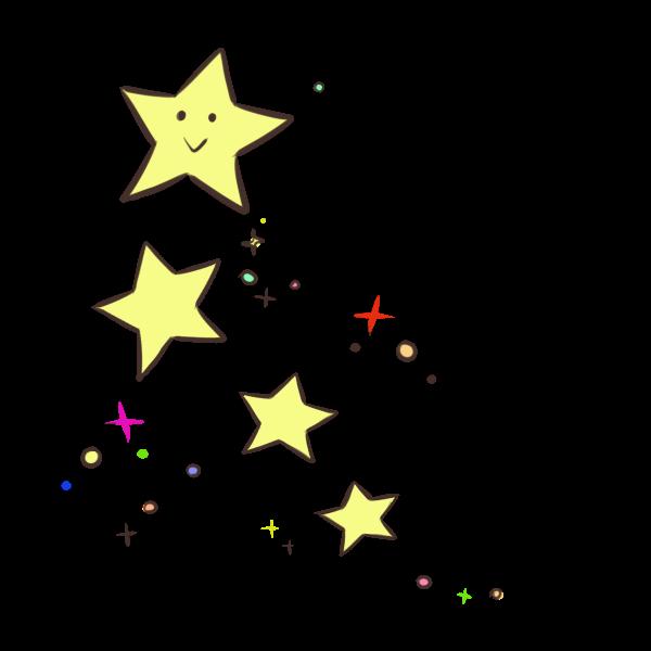 お星様のイラスト かわいいフリー素材が無料のイラストレイン