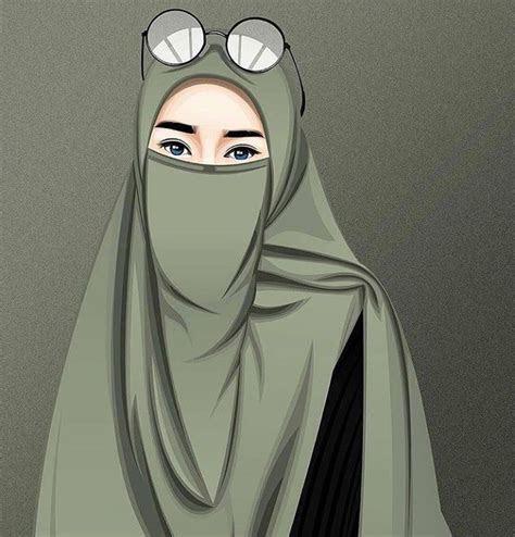 gambar kartun muslimah modern bercadar kumpulan dp bbm