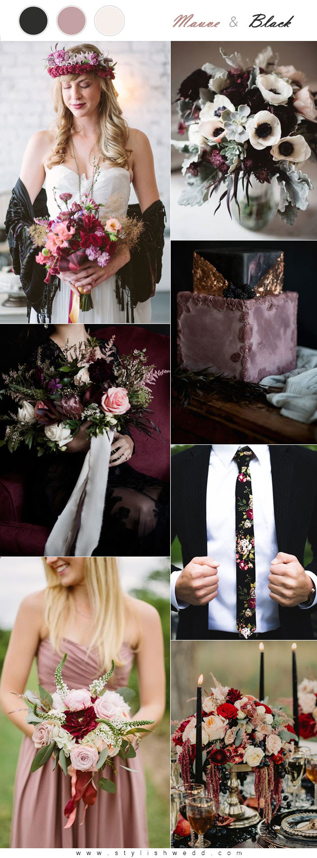 The Hottest 6 Mauve Wedding Color Palettes To Die For Stylish Wedd