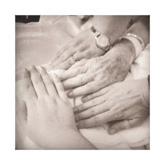 Make Your Generations of Hands Canvas Print