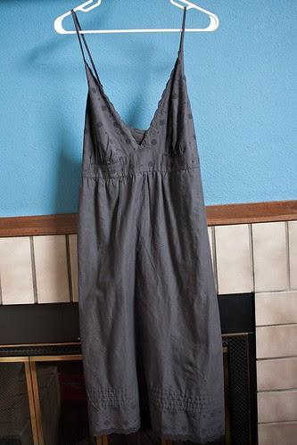 Old Navy dress to skirt refashion