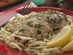 Roasted Chicken Scampi