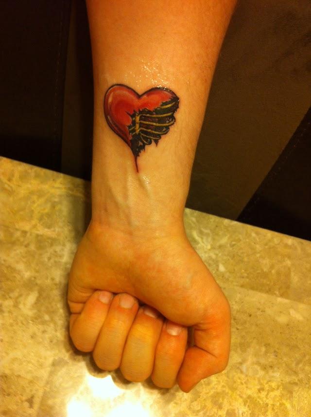 Heart Tattoo On Wrist Designs - Local Realism Tattoos