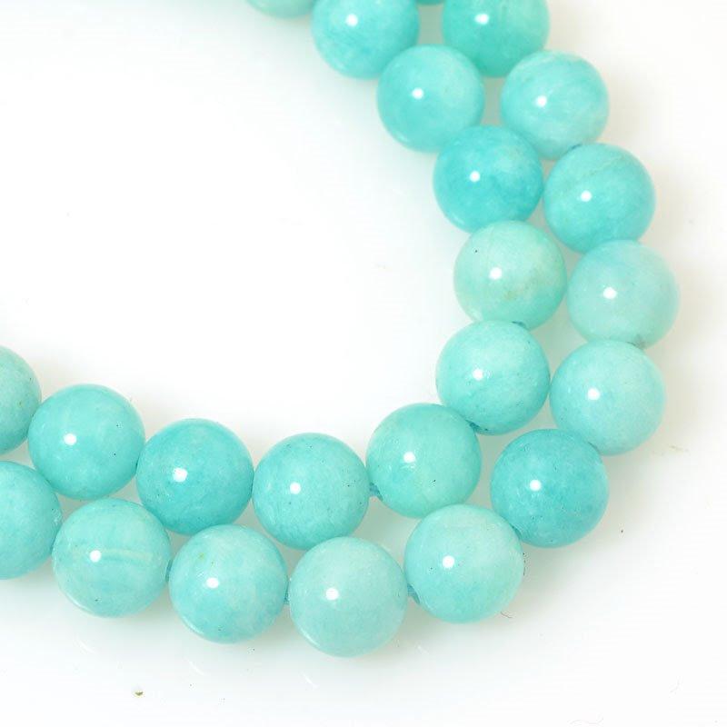 s36940 Stone Beads - 8 mm Round - Amazonite (strand)