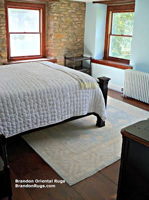 (BrandonRugs.com) Brandon Oriental Rugs Helps Family in New Hope, PA (Solebury Township, Bucks County) Find Oriental Rug to Complete Farnhouse Bedroom