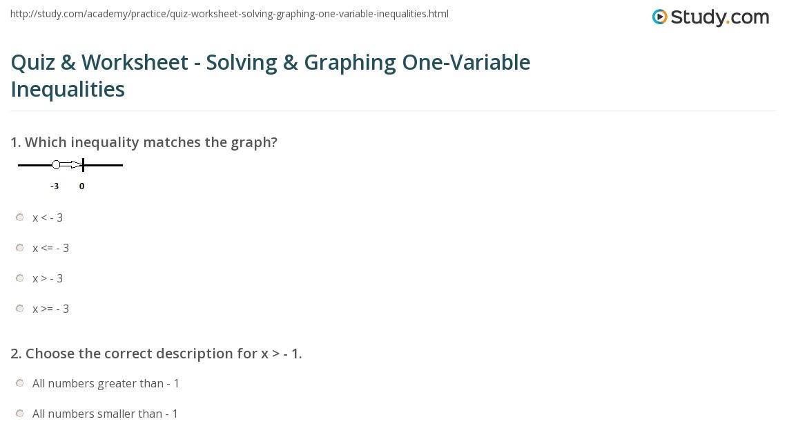 33 One Variable Inequalities Word Problems Worksheet ...