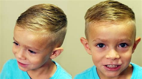 cut boys hair trendy boys haircut tutorial youtube