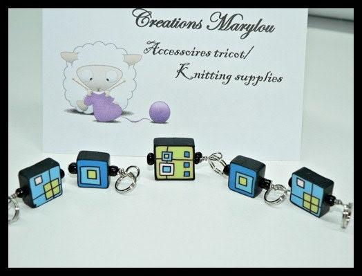 Cute Stitch markers/ marqueurs de mailles