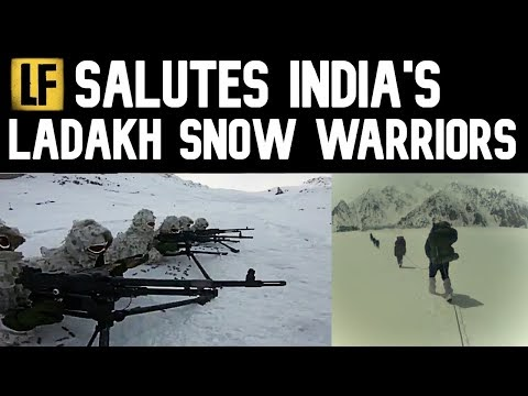 Indian Army snow specialist warriors in Ladakh