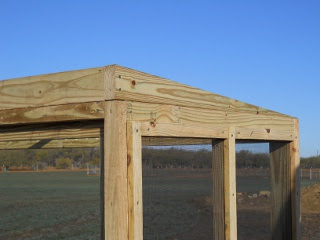Meat Dryer Roof Rafter/Block, Side View