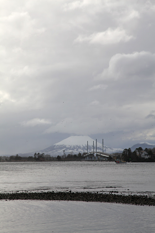Mount Edgecumbe and the bridge, Sitka, Alaska