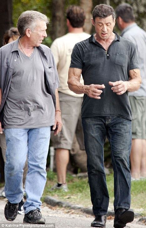 Is Sylvester Stallone losing his rippling Rambo muscles