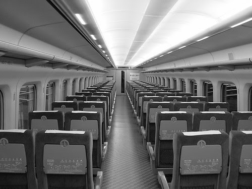 Shinkansen in early morning