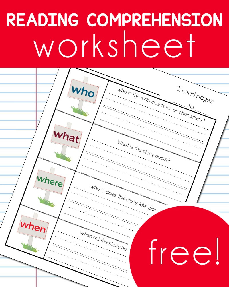 FREE Reading Prehension Worksheet