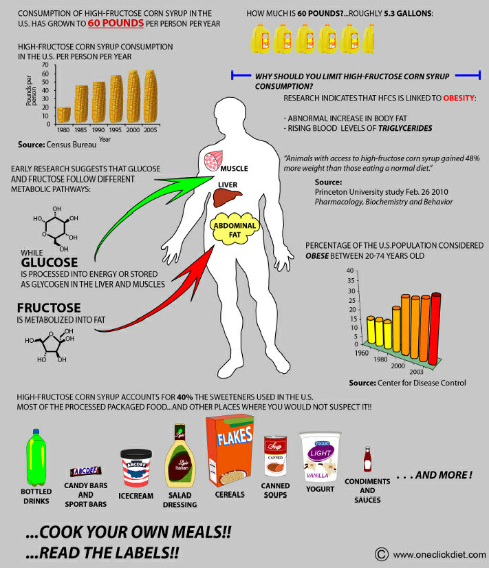 High Fructose Corn Syrup Chart