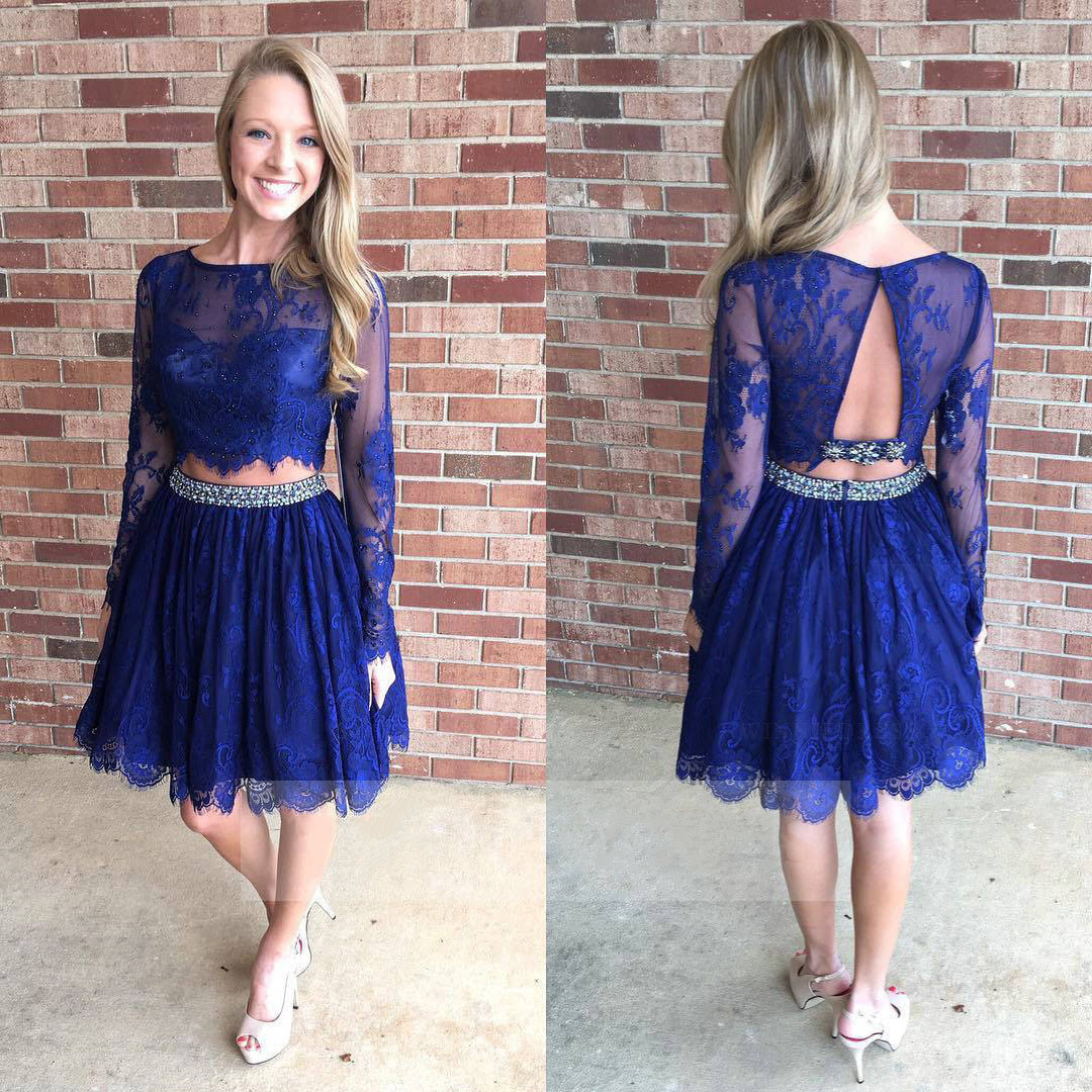 Online for long sleeve two piece homecoming dress dead where