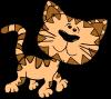 Cartoon Cat Walking Clip Art