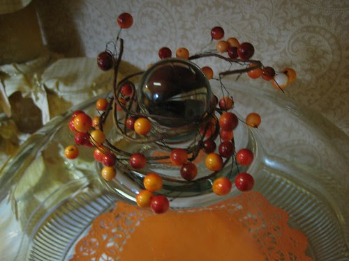 Autumn cake plate