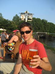 A cold beer at the Anchor Pub