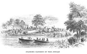 Pilgrims Bathing In The Jordan River