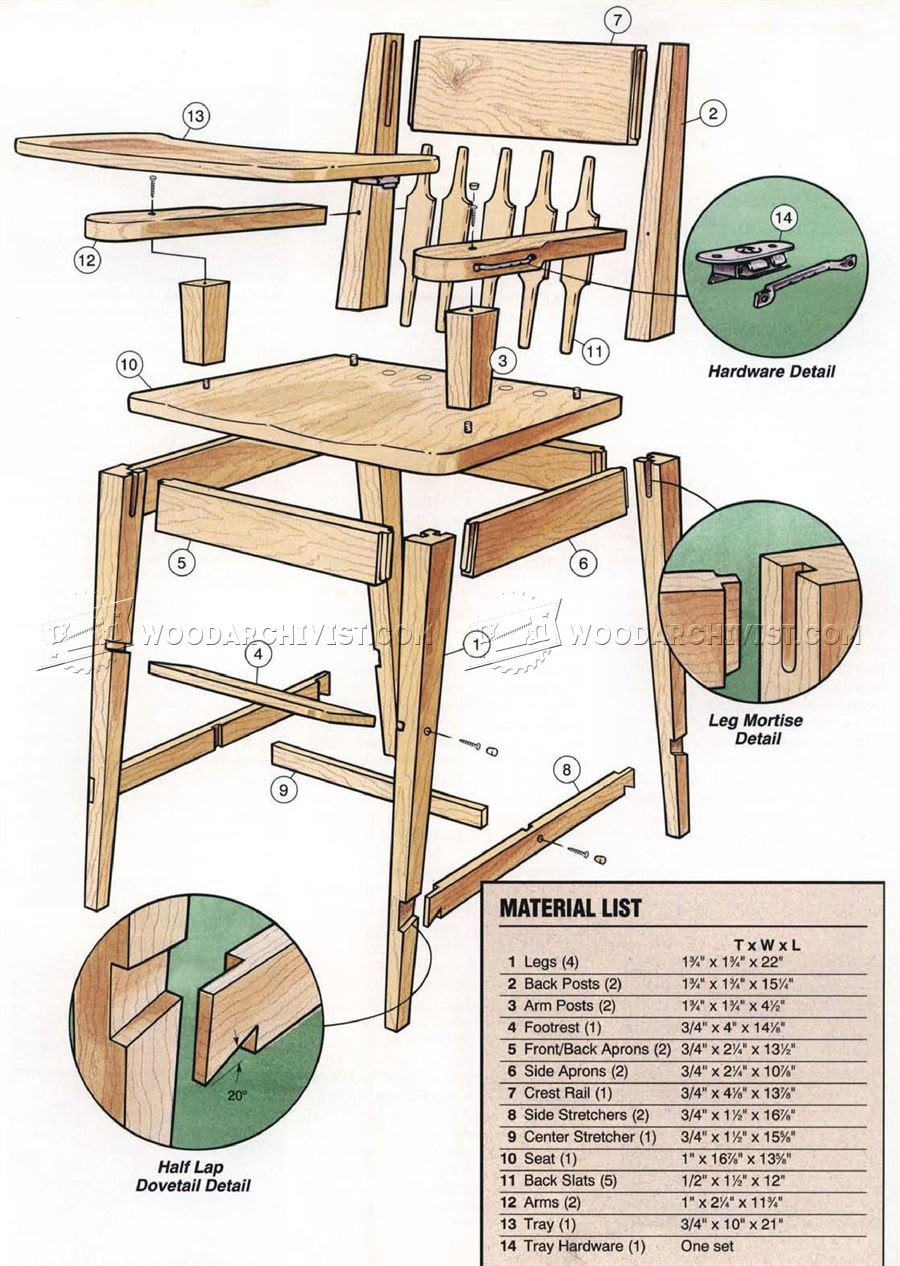 woodworking plans for high chair | hi small wood projects