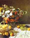 Claude Monet.  Flores e frutos.