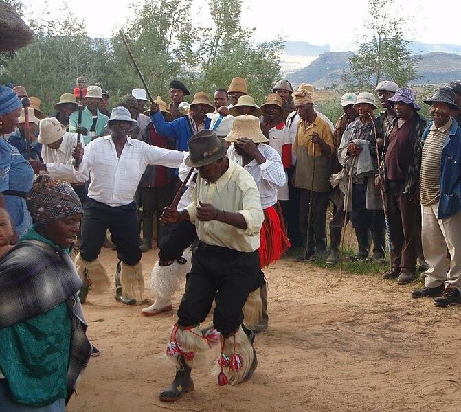 File:Basotho Men's Stick Dance.jpg