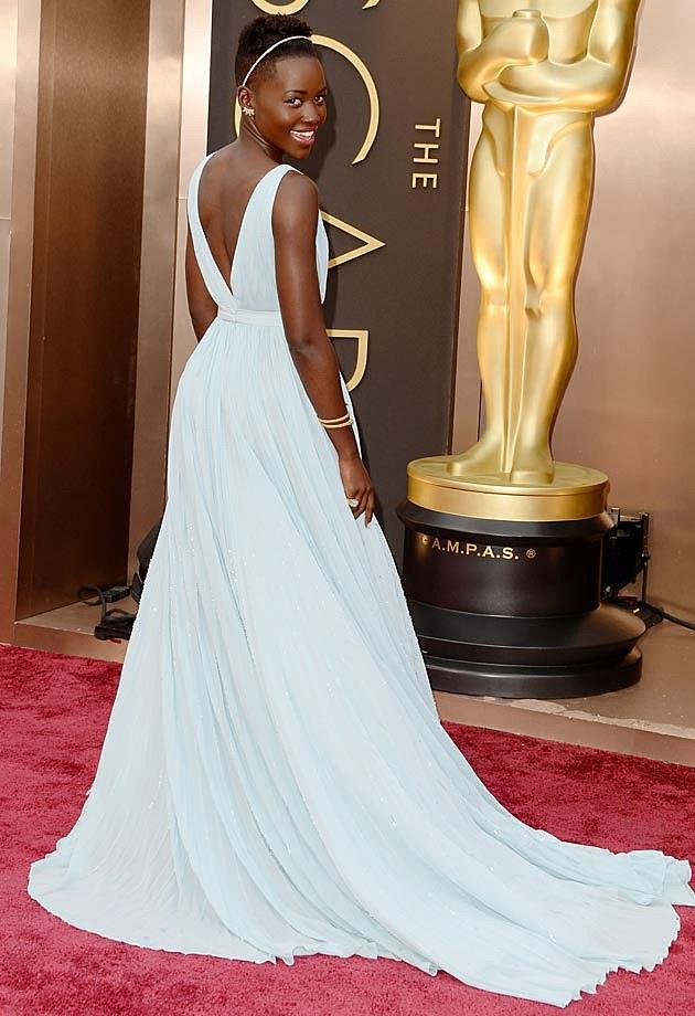 Lupita Nyong'o 2014 Oscars Prada