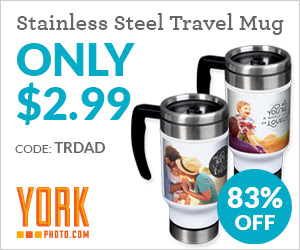 Custom Photo Travel Mug – Only $2.99 – Save $15!