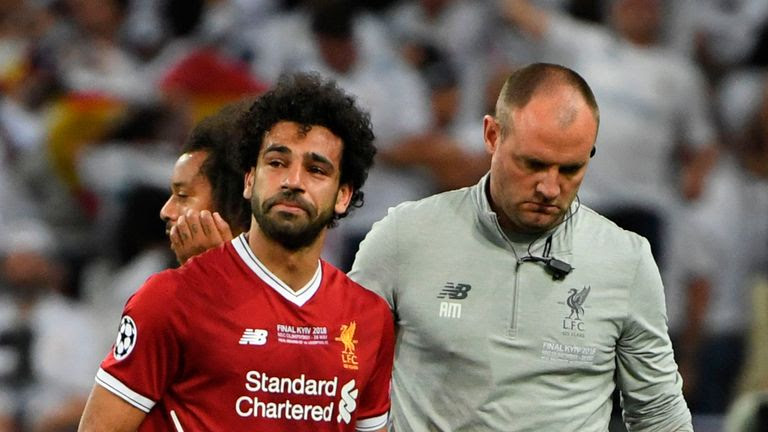 Mohamed Salah was in tears as he left the field in Kiev on Saturday.